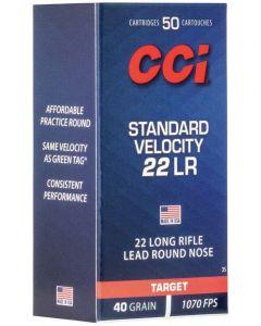CCI 22lr Standard Velocity Lead Round Nose 40gr (50 Rounds)