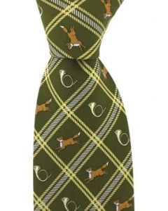 SAX Fox and Horn Green Tie