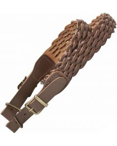 Bisley 8 Strand Plaited Brown Hide Leather Sling