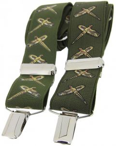 Soprano Flying Pheasant Braces Green