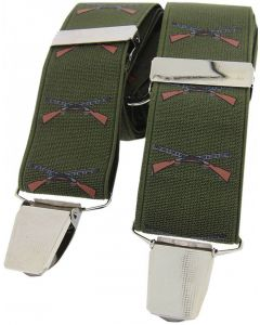 Soprano Braces Green Shotguns