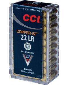 CCI Copper-22 .22lr Copper Hollow Point 21gr (50 Rounds)