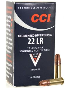 CCI .22lr Subsonic Segmented Hollow Point 40gr (50 Rounds)