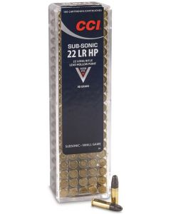 .22LR CCI Subsonic Hollow Point 40gr (100 Rounds)