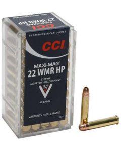 CCI .22WMR Maxi Mag V 40 Grain Hollow Point (50 Rounds)