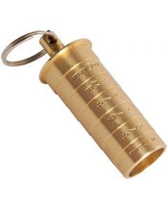 Bisley 12g Brass Choke Gauge Keyring