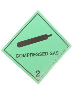 Compressed Gas Label (Magnetic)