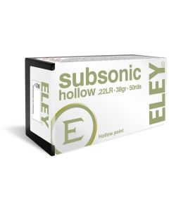 Eley .22LR Subsonic Hollow Point 40gr (50 Rounds)