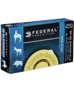 Federal .30-06 Power Shok 150gr Soft Point (20 Rounds)