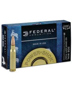 Federal Power Shok .308 Win Soft Point 150gr (20 Rounds)