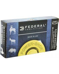 Federal Power Shok 6.5x55 140gr (20 Rounds)