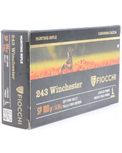 Fiocchi Extreme Rifle Line .243 Winchester Soft Point 100gr (20 Rounds)