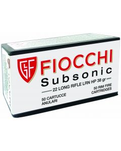 Fiocchi Subsonic .22lr LRN HP 38gr (50 Rounds)