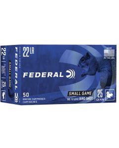 Federal Game Shok .22LR 25gr No 12 Shot (50 Rounds)