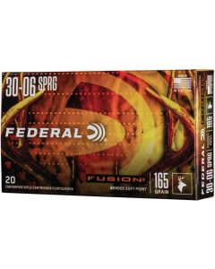 Federal Fusion V-Shok .30-06 Sprg Nosler Ballistic Tip 165gr (20 Rounds)