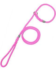 8mm Rope Slip Lead Pink