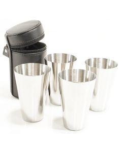 Bisley 2oz Stainless Steel 4 Cup Set