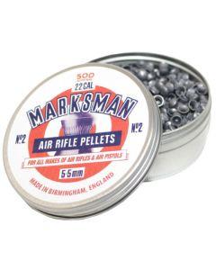Marksman No. 2 Round Head Air Rifle Pellets .22 (500 Pellets)