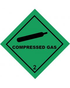 Compressed Gas Label (Adhesive)