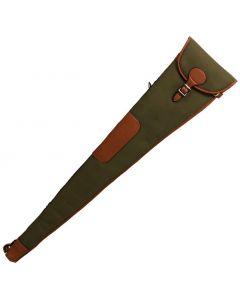 """Maremmano Canvas & Leather Shotgun Gunslip with Flap & Buckle 32"""""""