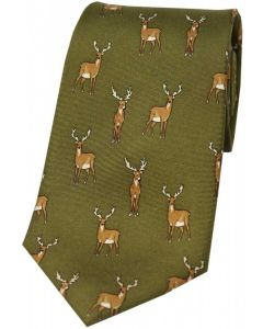 Soprano Printed Silk Standing Stag Green