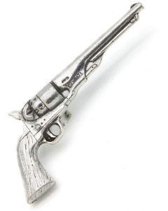 Revolver Pewter Brooch