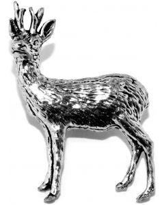 Roe Buck Pewter Brooch