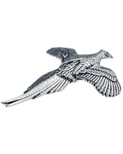 Gliding Pheasant Pewter Brooch