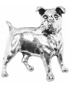 Jack Russell Pewter Brooch