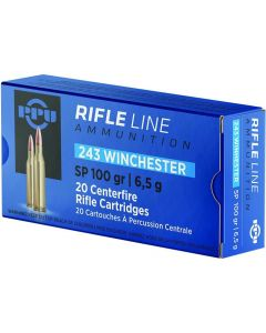 PPU .243 Winchester Soft Point 100gr (20 Rounds)