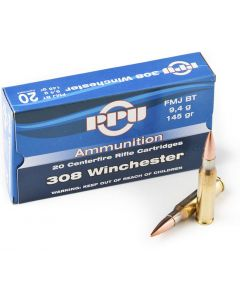 PPU .308 Winchester FMJ Boat Tail 175gr (20 Rounds)
