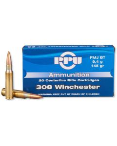 PPU .308 Winchester FMJ Boat Tail 145gr (20 Rounds)