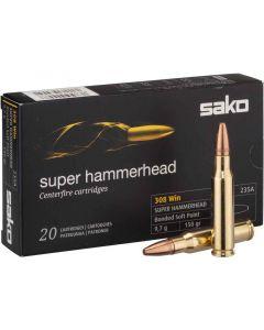 Sako .308 Win Super Hammerhead Soft Point 150gr (20 Rounds)
