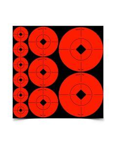 Birchwood Casey Self Adhesive Target Spots Mixed Orange