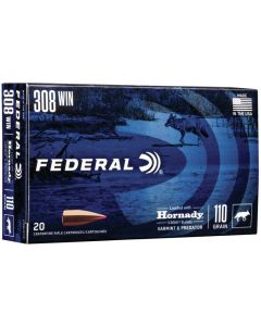Federal .308 Winchester Hornady V-Max 110gr (20 Rounds)