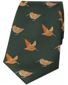Soprano Woven Silk Tie Woodcocks Green