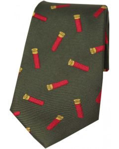 Soprano Woven Silk Tie Cartridges On Green