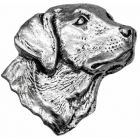 Labrador Head Pewter Brooch