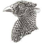 Pheasant's Head Pewter Brooch